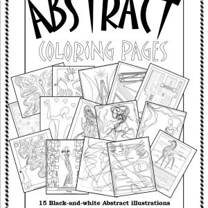 Cover Art for S.Mac's Abstract Coloring Pages
