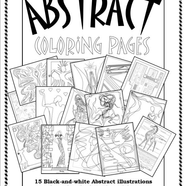 cover art for smacs abstract coloring pages - Abstract Coloring Books