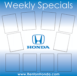 Honda Weekly Specials Board