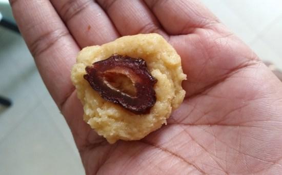festive date coconut cookie