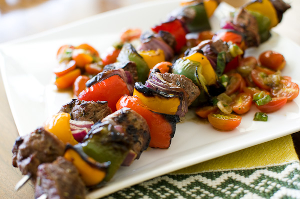Grilled Lamb Kebabs | ShesCookin.com