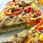 A refreshing take on vegetarian pizza! Fried Green Tomato Pizza with Marcella Hazan's basic pizza dough recipe.