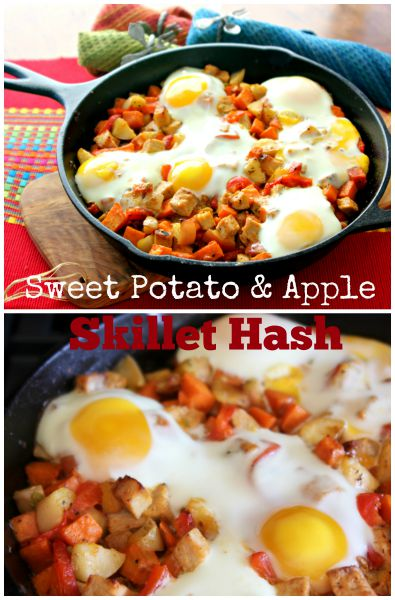 Sweet Potato, Pork & Apple Skillet Hash | ShesCookin.com