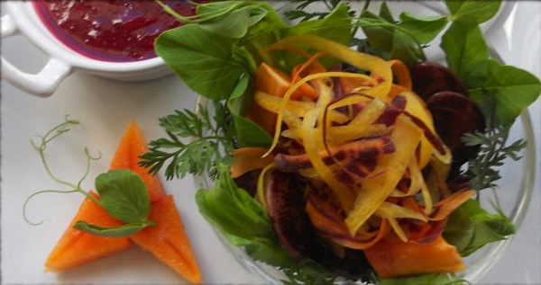 Wilted greens salad