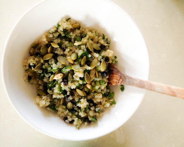 Honey Lime Quinoa with Toasted Pumpkin Seeds
