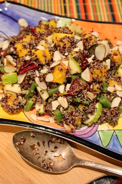 Autumn apple, quinoa, butternut squash salad