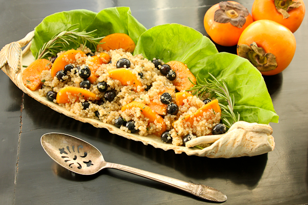 Blueberry Quinoa Salad with Persimmons