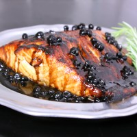 Let's Not Talk Turkey: Salmon with Blueberry Balsamic Sauce