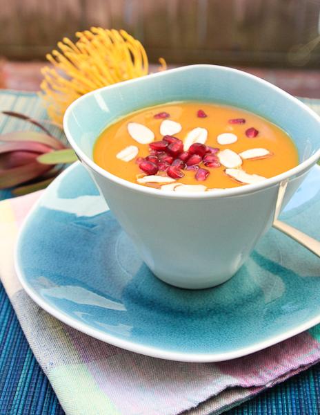 chai spiced sweet potato bisque, sweet potato soup