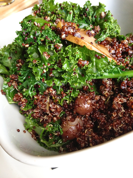 quinoa kale grape salad