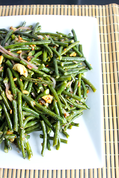 Chinese Long Beans, Kung Pao Green Beans, tamarind sauce,