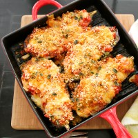 Eggplant Parmesan with Fresh Mozzarella