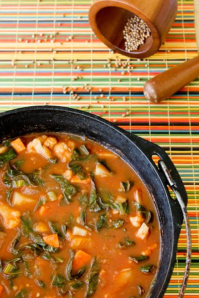 African Potato & Cauliflower Stew | ShesCookin.com