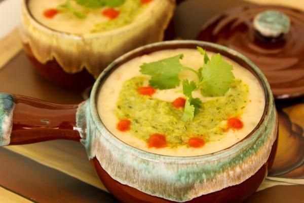 Mexican potato cheese soup