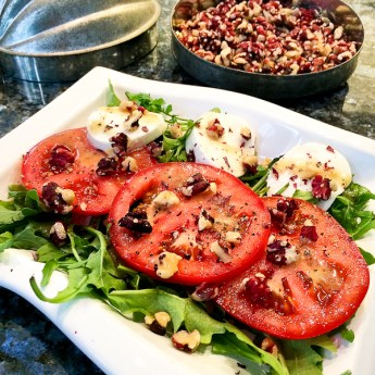 4th of July and a Fast, Fresh + Easy Caprese Salad with Red Walnuts