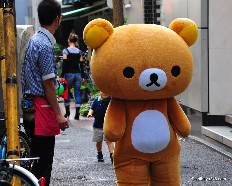 I think that kid is trying to chase down Rilakkuma