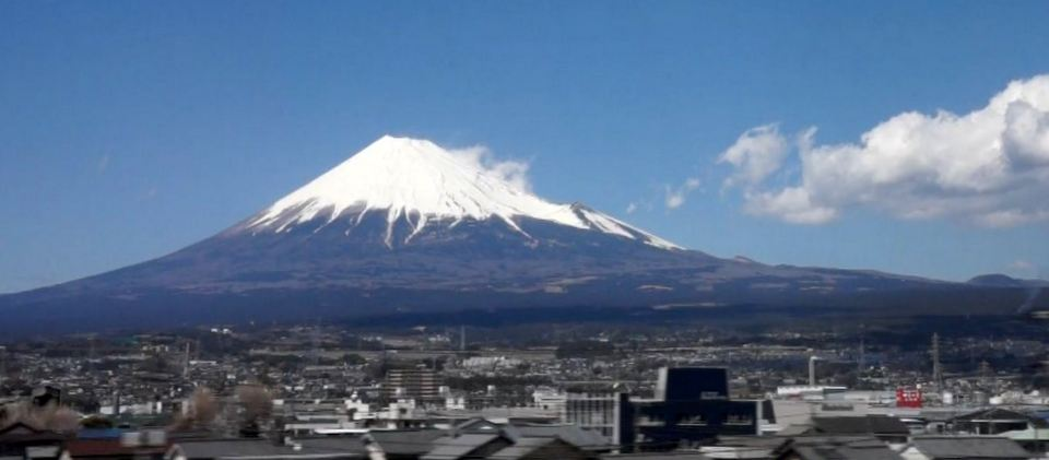 Mt Fuji from Shinkansen