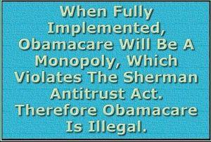 obamacareShermanAntitrustAct