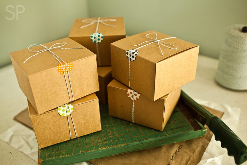 Gift boxes filled with Cranberry Muffins, Brown Butter Cookies, and Sugar Cookies! :)