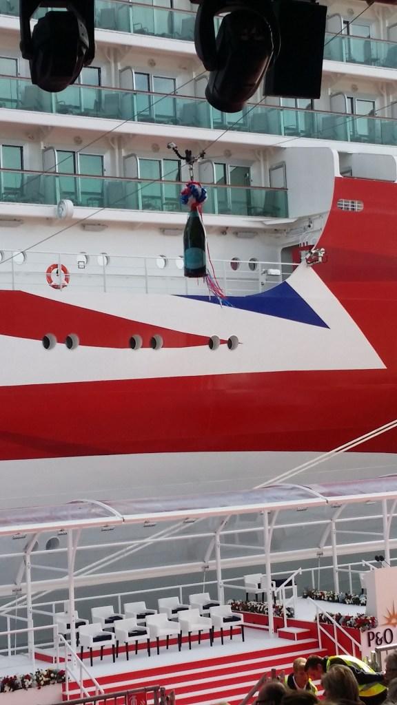 Wiston champagne for Britannia Launch