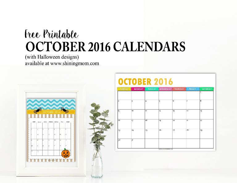 October Calendar Design : Free calendars for october halloween designs