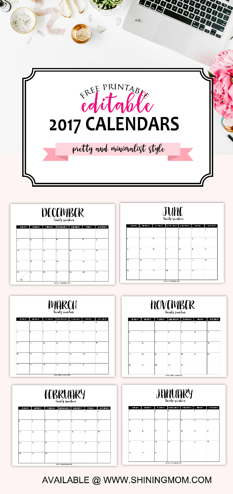 The Free Printable 2017 Calendar by | Free printable, …