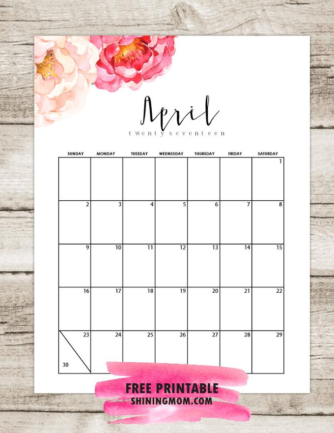 Фото календарь апрель 2017