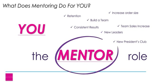 BEING A GREAT AVON MENTOR