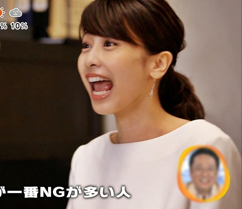 加藤綾子の舌見せ (1)