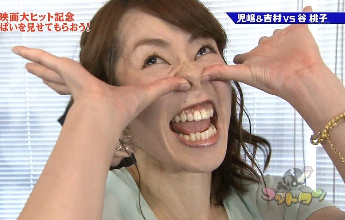 谷桃子の変顔舌出し (2)