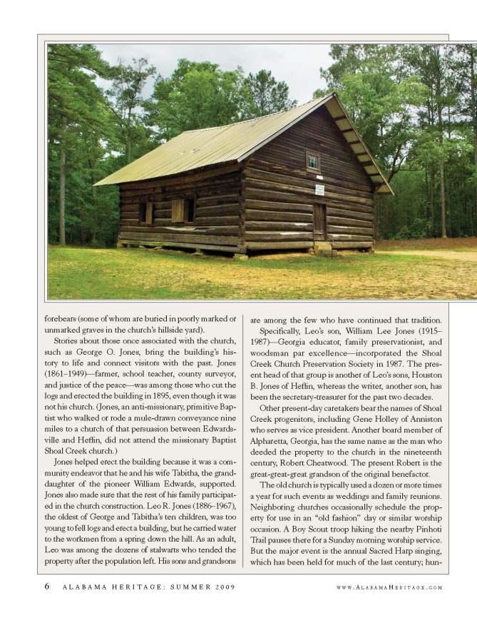 Alabama Heritage Magazine article page 2