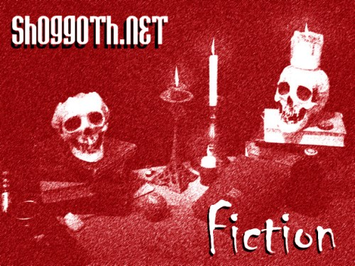 Shoggoth fiction image in red