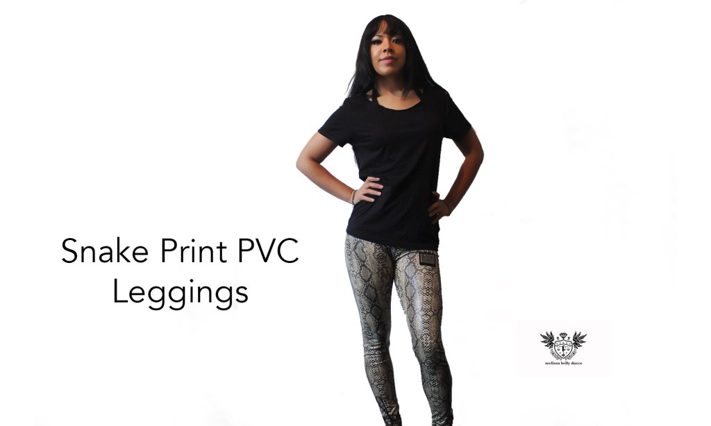 Snake Print PVC Leggings full