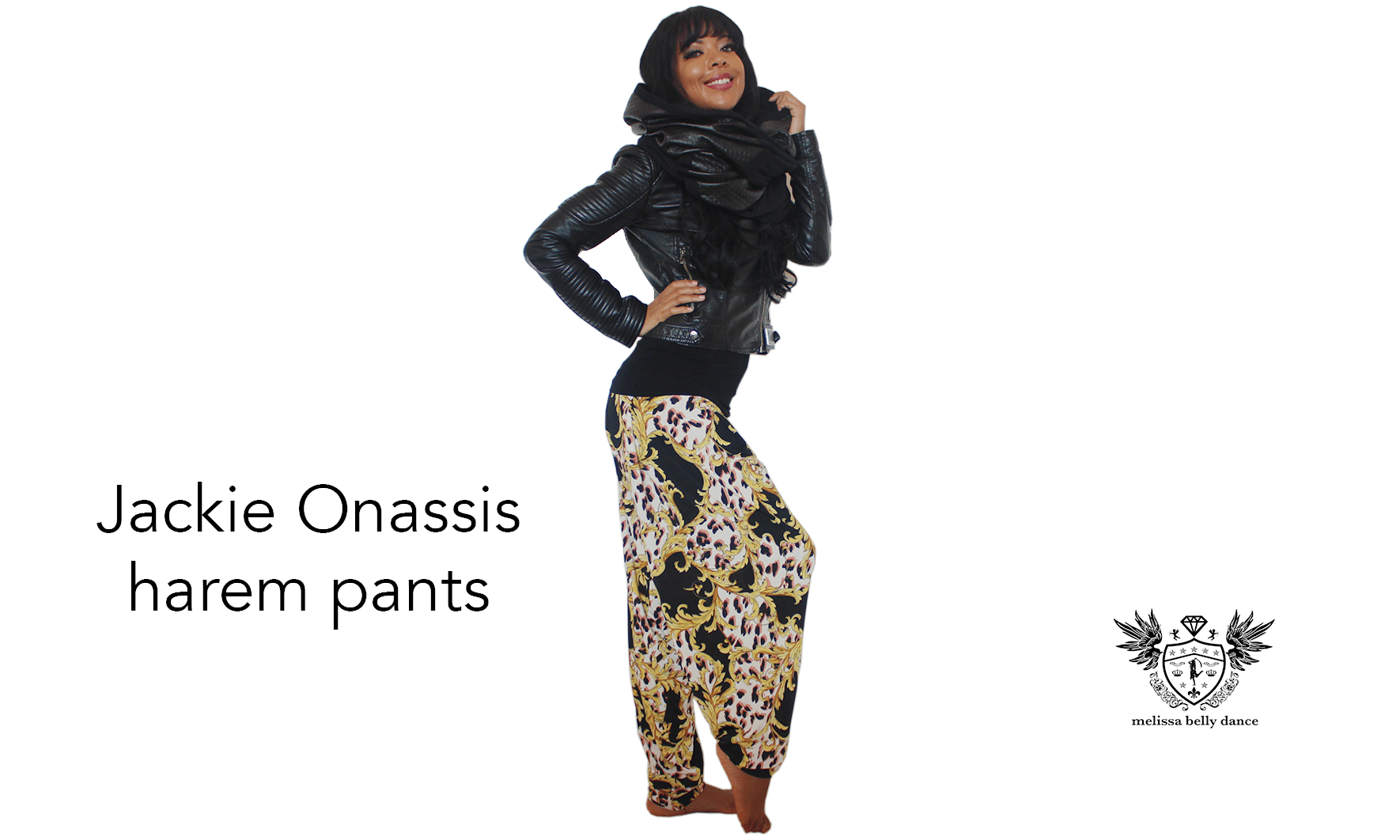 Jackie Onassis Belly Dance Harem Pants
