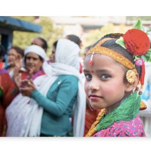 Panell Fotogràfic alumini- Young Nepali Girl during Tihar