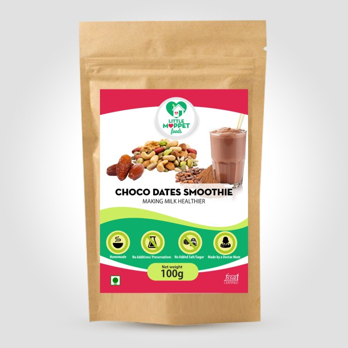 Choco-Dates Smoothie Mix- Instant Health Drink Powder For Kids And Adults