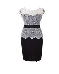 lace dress black and white