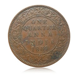 1889 1/4 Quarter Anna Queen Victoria Empress RARE COIN - Best Buy