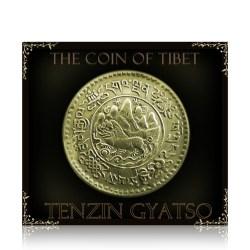Tibetan Coin 1946 3 Srang Tenzin Gyatso - THE AURA COIN -WORTH COLLECTING