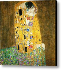 Gustav Klimt The Kiss Canvas Print