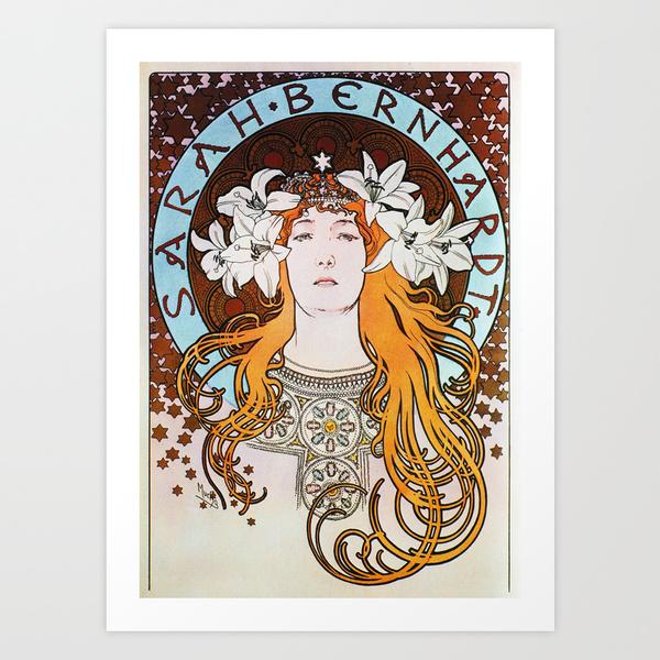 Alphonse Mucha Sarah Bernhardt Art Print