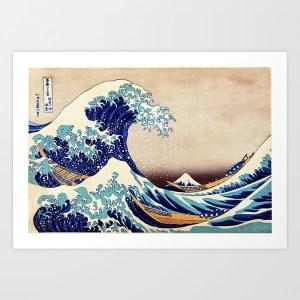 Katsushika Hokusai The Great Wave Off Kanagawa Art Print