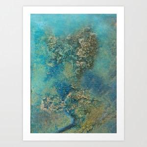 Philip Bowman Ocean Blue Art Print