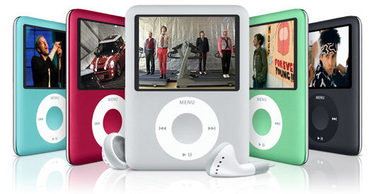 The new look iPod Nano from Apple