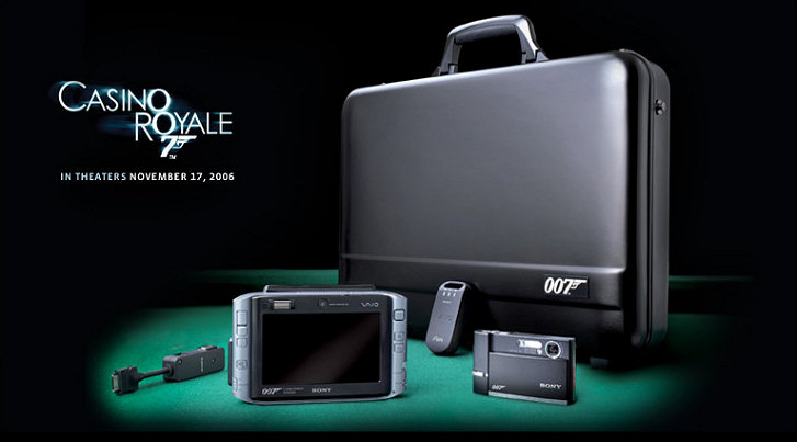 Limited Edition James Bond Spy Gear from Sony