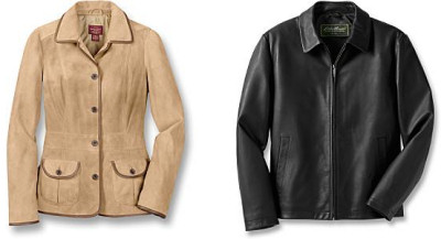 Eddie Bauer Leather Outerwear Sale