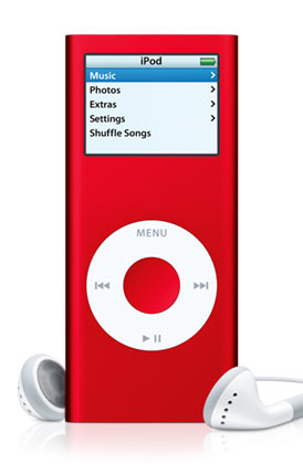 (PRODUCT) RED Apple iPod Nano