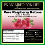 Raspberry Ketone -PRESCRIBED FOR LIFE