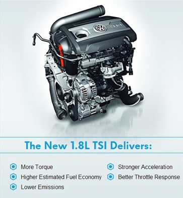 The all-new 1.8L TSI Engine: Smaller, Lighter, Turbocharged   Fall in Love with Volkswagen