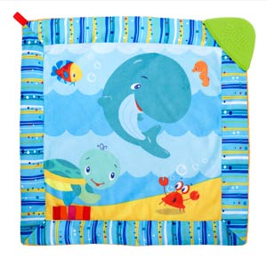 Bright Starts Cuddle Soothe Blanket & Dancing Teether Friends